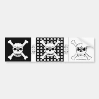Set of 3 Skull And Crossbone Bumper Sticker