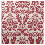 Set of 4 napkins...red and white damask