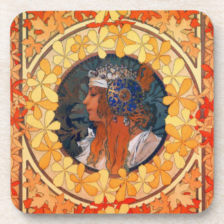 Set of 6 Art Nouveau Coasters