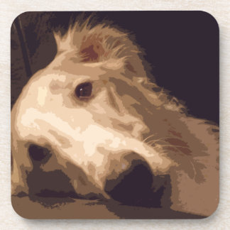 SET OF 6 BORZOI COASTERS