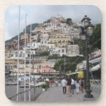 """Set of 6 Drinks Coasters: Positano Picture (Italy) Drink Coaster<br><div class=""""desc"""">Made with high-gloss plastic and a non-skid cork backing, these coasters display your photos and designs with vivid and sharp colours. Perfect for hot and cold drinks, custom coasters are a great complement to any table or surface. The picture is taken in Positano, a town on Italy&#39;s Amalfi coast. Dimensions:...</div>"""