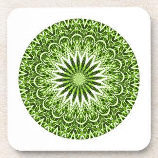 Set of 6 Hard Plastic Coasters (Green)