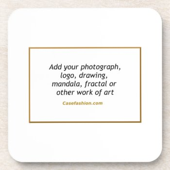 Set Of 6 Hard Plastic Coasters With Cork Back by Casefashion at Zazzle