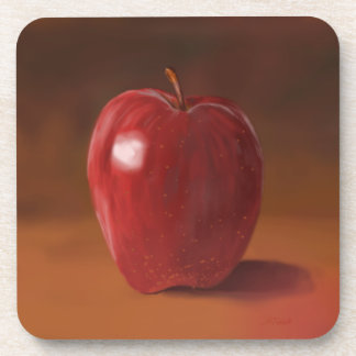 Set of 6 Red Apple Coasters