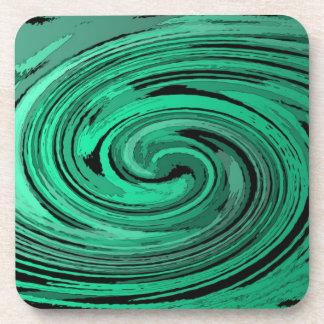 set of abstract art cork coasters - violent sky