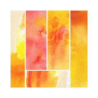 Set of abstract  watercolor hand painted canvas print