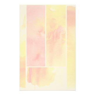 Set of abstract  watercolor hand painted stationery