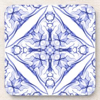 Set Of Blue Medieval Cross Drink Coasters