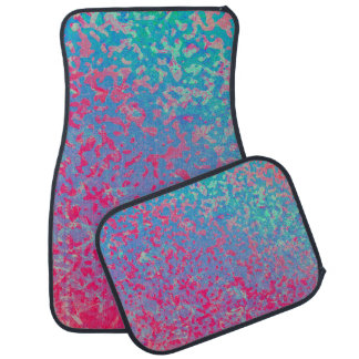 Set of Car Mats Colorful Corroded Background