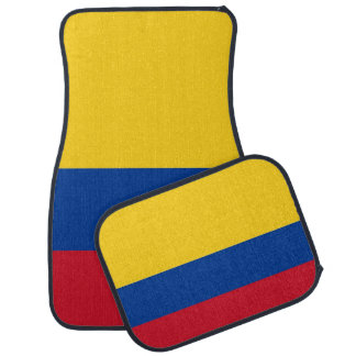 Set of car mats with Flag of Colombia