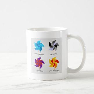 Set of color schemes coffee mug