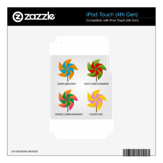 Set of color schemes decal for iPod touch 4G