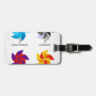 Set of color schemes tags for bags