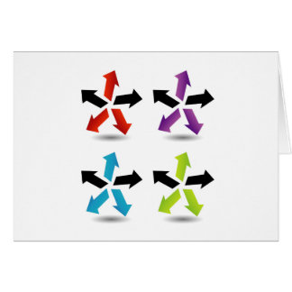 Set of colorful arrows card