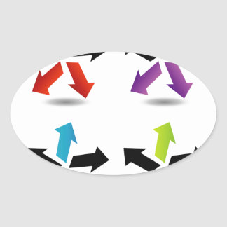 Set of colorful arrows stickers