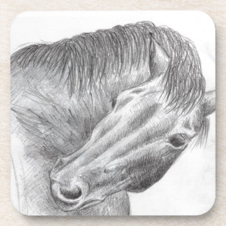 set of cork coasters - itchy horse