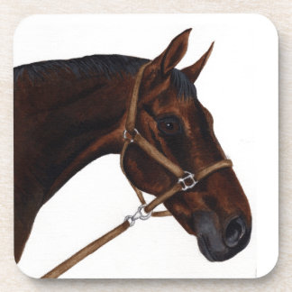set of cork coasters - thoroughbred horse