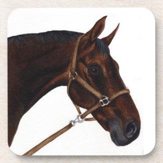 set of cork coasters - thoroughbred horse