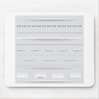 set of dividers mouse pad