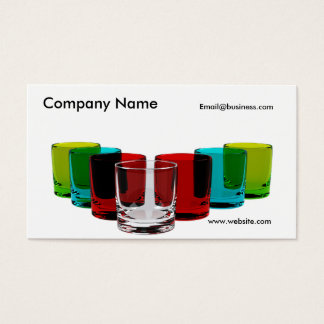 Set of Drinking Glasses Business Card