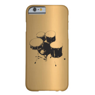 Set of Drums Bronze Copper Effect Barely There iPhone 6 Case