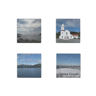 Set of Four Canada Magnets Stone Magnet