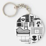Set of furniture keychain