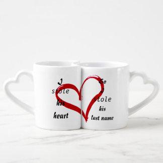 Set of love mugs