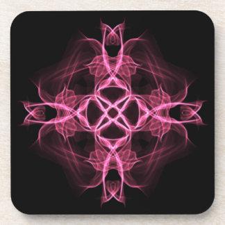 Set of Pink Celtic Cross Coasters