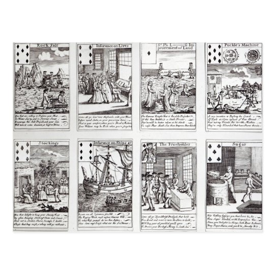Set of Playing Cards depicting Satirical