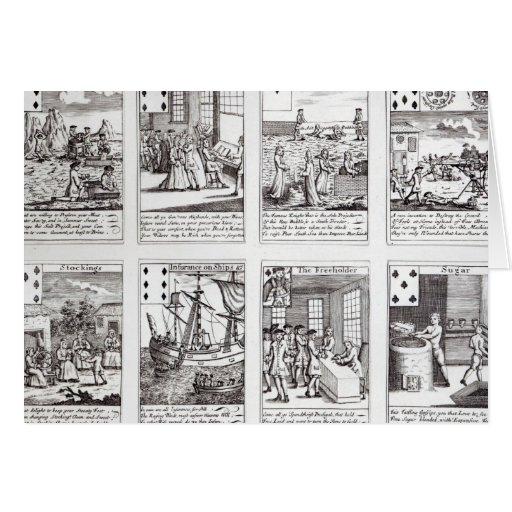 Set of Playing Cards depicting Satirical