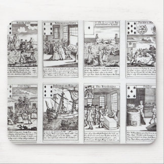 Set of Playing Cards depicting Satirical Mouse Pad