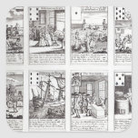 Set of Playing Cards depicting Satirical Square Sticker