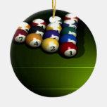 Set of pool balls christmas ornaments