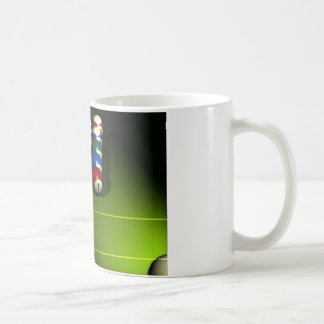 Set of pool balls coffee mug