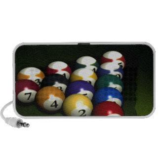 Set of pool balls laptop speaker