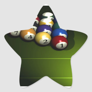 Set of pool balls star sticker