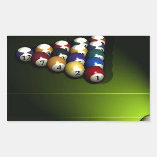 Set of pool balls stickers