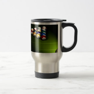 Set of pool balls travel mug