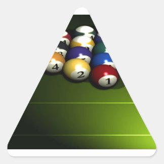 Set of pool balls triangle sticker