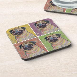 Set of Pug Coasters