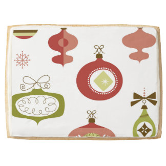 Set of Retro Christmas Ornaments Shortbread Cookie
