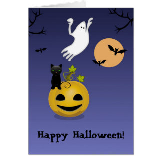 Set Of Scary, Halloween Greeting Card
