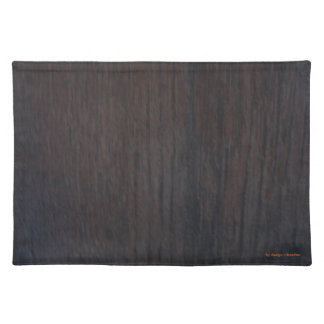 SET OF SMOOTH TABLE WOOD PLACEMAT