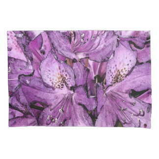 SET OF STANDARD PILLOW CASES/ PURPLE RHODODENDRON PILLOWCASE