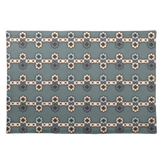 """Set of table """"Chains of flowers """" Cloth Placemat"""