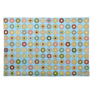 """Set of table """"Floor of flowers """" Placemat"""