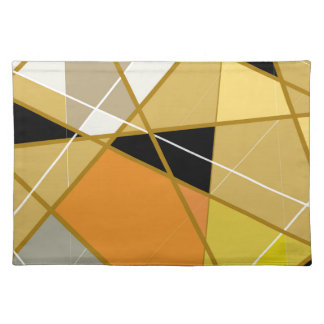 Set of table Geometrical abstract Cloth Placemat