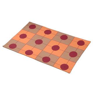 """set of table """"points&carrés """" cloth placemat"""
