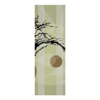 Set of Three: Middle Piece Tree Art Poster